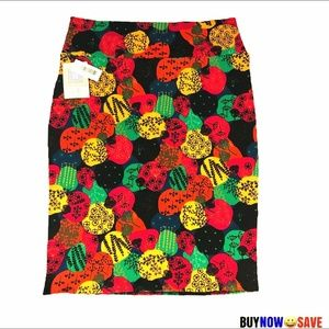 NWT Lularoe XL Multi Color Cassie Skirt